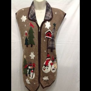 Women's sz 2X VICTORIA JONES holiday sweater vest